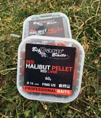BIG CARP BAITS RED Halibut Pellet 60g Chytací