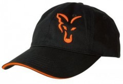 FOX Kšiltovka Baseball Cap Black and Orange