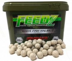 STARBAITS FEEDZ Boilies WHITE FISH PELLETS 14mm 4kg