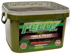 STARBAITS FEEDZ Boilies FISH & PELLETS 14mm 4kg